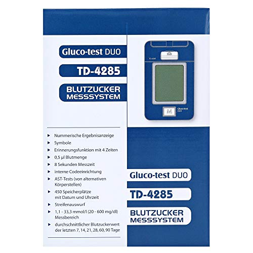 Gluco Test Duo Blutzuckermessger�t Starterset mg/dl, 1 St