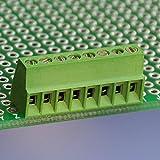 10bloques de terminales por tornillo universal de Electronics-Salon de 8polos 2,54mm PCB