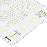 Marcorex XXL Extra Large Silicone Pastry Mat 34' x 23' with Measurements and Conversion Charts,...