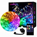 LED Strip Lights, Charkee Led Lights 25ft with Music Sync, Color Changing RGB Lights with Controller and Microphone for Bedroom, Room, Gaming, Party Decoration