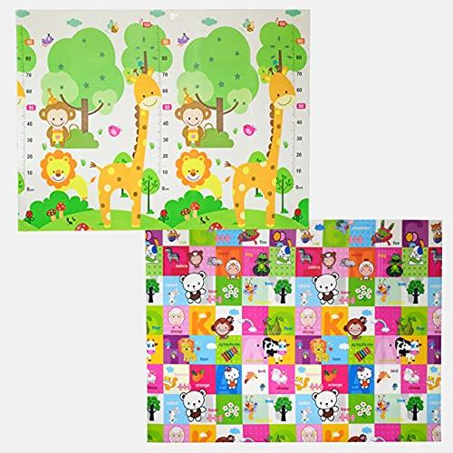 Estera de rastreo 1.0 cm de Espesor de Doble Lateral alfombras de Espuma, Niños Rompecabezas Juego Estera, Alfombra Puzzle Niños