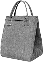 Moosoo Insulated Lunch Bag Adult Reusable Lunch Tote Cooler Bag Lunch Container (Light Gray)