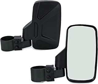 BISHERDER 1 Pair 8.2 Inch UTV Side View Mirror Rear View Mirrors fit 1.75 Inch - 2 Inch Roll Bar Polaris RZR Yamaha with Shatter-Proof Tempered Glass