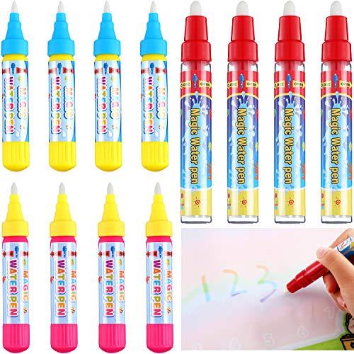 Outus 12 Stücke Magie Ersatz Wasser Stift Wasser Doodle Stifte Wassermatte Stifte für Zeichenmatten Malbretter