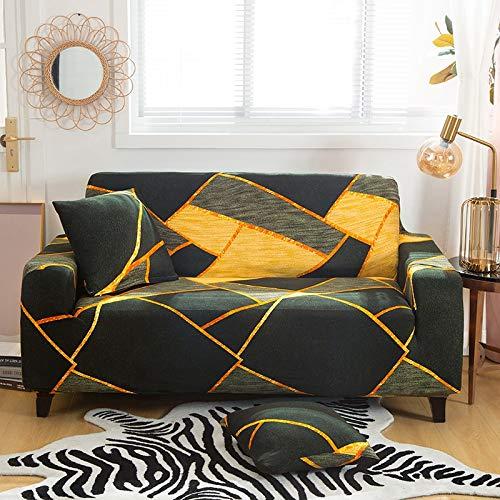 WXQY Funda de sofá de Tela Escocesa geométrica Funda de sofá elástica Funda de sofá de Sala de Estar Funda de sofá elástica Funda de sofá A28 2 plazas