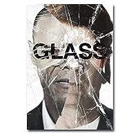 ガラスクラシック映画ポスター絵画壁アートプリントキャンバス画像リビングルーム家の装飾ギフト-50x70cmフレームなし