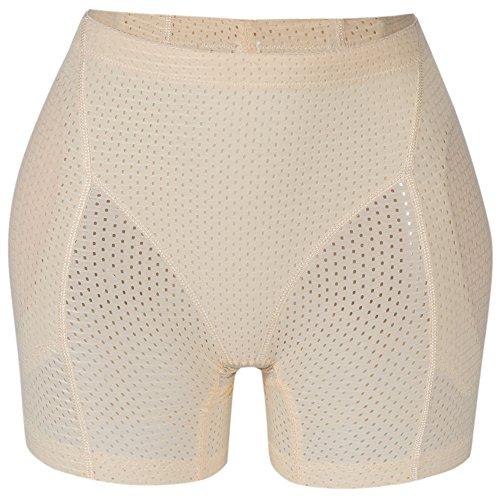 Lelinta Women Lace Padded Seamless Butt Hip Enhancer Shaper Panties Underwear Nude
