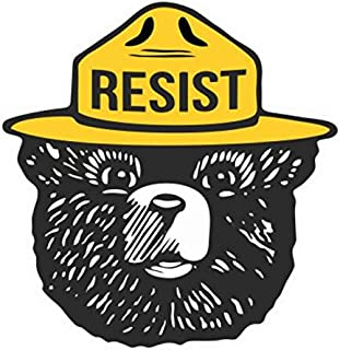 Decal & Sticker Pros Resist Smokey Bear Printed on White Vinyl Decal Sticker Compatible with All Apple MacBook Pro, Retina, Air, Laptop Trackpad Sticker Decal