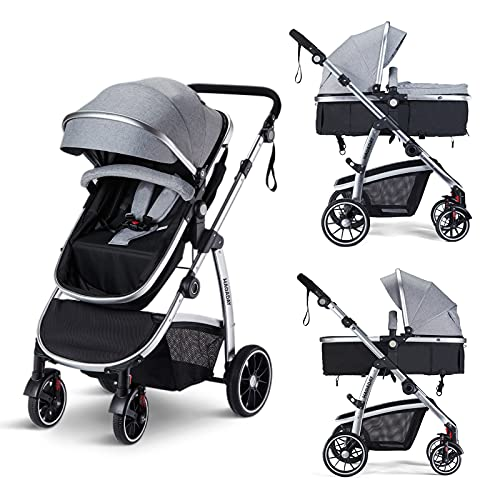HAGADAY Baby Stroller, Infant Stroller with Reversible Seat,...