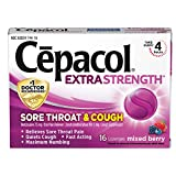 Cepacol Extra Strength Sore Throat Relief Lozenges, Mixed Berry Cough Drops, Maximum Numbing- Fast...