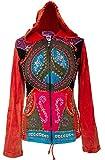 Shopoholic Fashion Women Peace Embroidered Hipped Hoodie,S