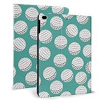 ゴルフ IPADレザーケース タブレットケース 可愛い 傷防止 耐衝撃 三つ折タイプ 人格 軽量 薄型