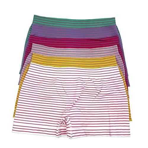 Laake Kinder Mädchen Panty Unterhose Hipster 6 Stück Microfaser Unterwäsche Boxer Shorts Slips Schlüpfer (GL-MP03 122-134)