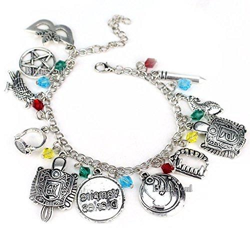 Blingsoul The Vampire Diaries Charm-Armband – Katherine Armbänder Schmuck Merchandise Kostüm Geschenk für Frauen