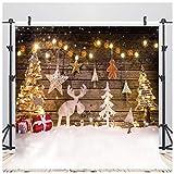 AIIKES 8x8FT Fondo de fotografía de Navidad Fondo de decoración de árbol de Navidad Fondo de Foto de Navidad de bebé Fondo de Fiesta Familiar Fondo de fotografía de Estudio 10-822