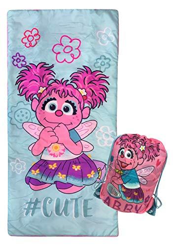 Jay Franco Sesame Street #Cutie Slumber Sack - Cozy & Warm Kids Lightweight Slumber Bag/Sleeping Bag - Featuring Abby Cadabby (Official Sesame Street Product)