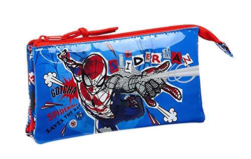 Safta 812043744 Estuche portatodo Triple Escolar Spiderman