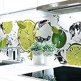 Parete da cucina, motivo: ghiaccio, pannello rigido in PVC premium, spessore: 0,4mm, autoadesivo, da poter applicare direttamente sulle piastrelle 60 x 51 cm