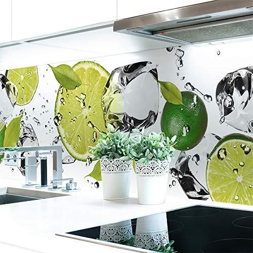 Küchenrückwand Limetten Eiswasser Premium Hart-PVC 0,4 mm selbstklebend 60x51cm