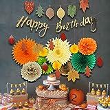 EASY JOY Geburtstag Dekoration Herbst Blätter Girlanden Party Deko Orange - 2