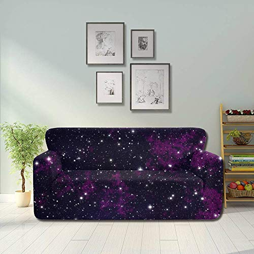 JEOLVP Night Sky Stars Sky Night Sky Stars Space Funda de sofá Suave Funda de Polvo para sofá Protector de Muebles Empotrado 2