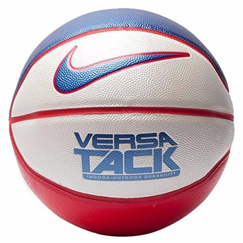 Nike Versa Tack (Size 7) Basketball White/University Red/Game Royal Size 29.5 Inch