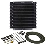 Derale 13614 Series 9000 Plate and Fin Transmission Oil Cooler,Black