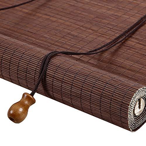 Estores Enrollables Persianas Exteriores de Ventana de Bambú, Persianas Enrollables Ovaladas Pergola, para el Techo de La Casa de Té de La Galería del Hotel del Patio Trasero, 60/80/100/120/140 cm de
