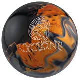 Ebonite Cyclone Bowling Ball, Black/Gold/Silver, 14