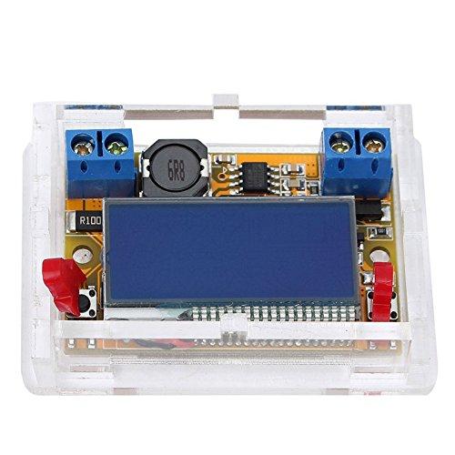 Lysignal DC-DC Módulo de fuente de alimentación ajustable con pantalla LCD Voltímetro Amperímetro de doble pantalla DC5-23V a 0-16.5V 3A Buck Converter