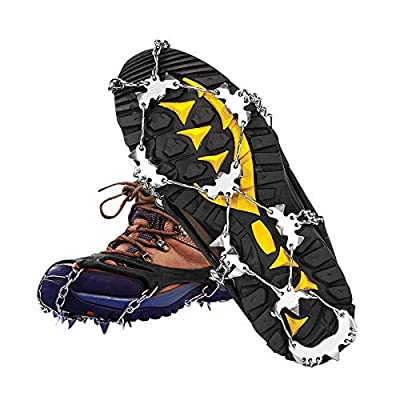 19 Spikes Crampons,Ice Cleats Traction Ice Snow Grips for Hiking Boots and Shoes,Anti Slip for Walking Jogging Climbing on Ice and Snow