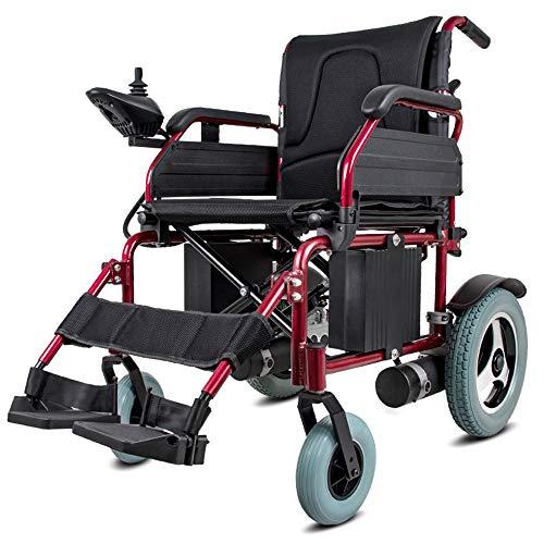 MYYING ELE Elektrischer Rollstuhl Faltbar, Doppelbatterie Elektrorollstuhl Faltbar Betriebene Leicht Abnehmbare, Einstellbare Handlauf für ältere und Behinderte Menschen