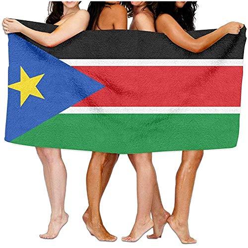 qinzuisp strandhanddoek Vlag van Zuid-Soedan Lichtgewicht Zacht Zwembad Absorberend Bad Strandhanddoek Yoga Pilates Picknick Deken Handdoeken 80X130cm