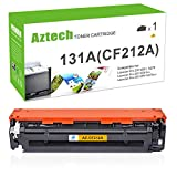 Aztech Compatible Toner Cartridge Replacement for HP 131X 131A CF212A for HP Laserjet Pro 200 Color M251nw M251n MFP M276nw M276n Toner Ink (Yellow, 1-Pack)