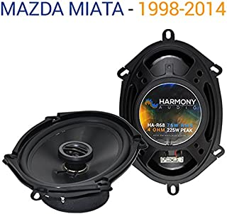 Compatible with Mazda Miata 1998-2014 Factory Speaker Replacement Harmony Upgrade Coaxial R68