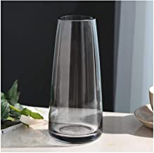 Flower Bottle Transparent Multi-Color Glass Vase Glass Container Cylindrical (22 * 6.5cm)