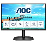 AOC Monitor 22B2H- 22' Full HD, 75Hz, VA, Flickerfree, 1920x1080, 200cd/m, D-SUB, HDMI