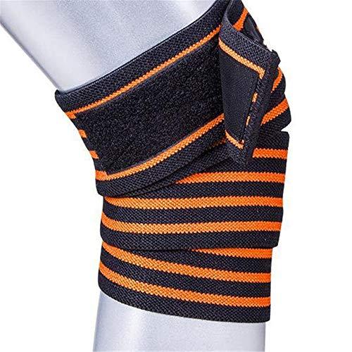 YLiansong-home Professionelle Kniepads für Arbeit 1.8m elastischer Verband Knieschützer Fitness Outdoor Sport Knieschützer atmungsaktiv Schutzausrüstung Gartenarbeit (Color : Orange, Size : One Size)