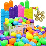 JOYIN 144 Pieces 2 3/8' Easter Eggs + 6 Golden Eggs for Filling Specific Treats, Easter Theme Party...
