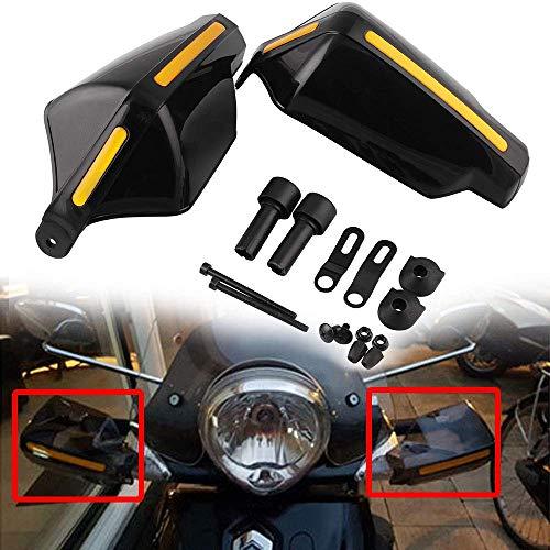 "Universal Motorcycle Handguard Hand Guards Wind Cold Protector Windshield Deflectors, JYEEE 7/8"" Handlebar Handguard Handle Protector Bike Brush Wind Guard 1Pair"