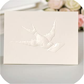 12set Fairy Tale Theme Pigeon Card Leave Message Cards Lucky Love Valentine Christmas Party Invitation Letter Envelope,as Picture