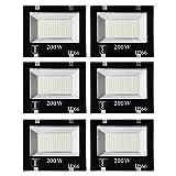 ESS EMM® 200 Watt Ultra Thin Slim Ip66 LED Flood Outdoor Light Cool White Waterproof- 200W,Pack of...