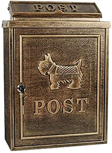 Brievenbus brievenbussen Retro wandgemonteerde brievenbus, postbus beveiliging, postvak, retro postbus waterdichte postbus Beveiligingsmailbox #2