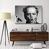 WJY Abstrakte Leinwand Promi Jack Nicholson Zigarre Bilder