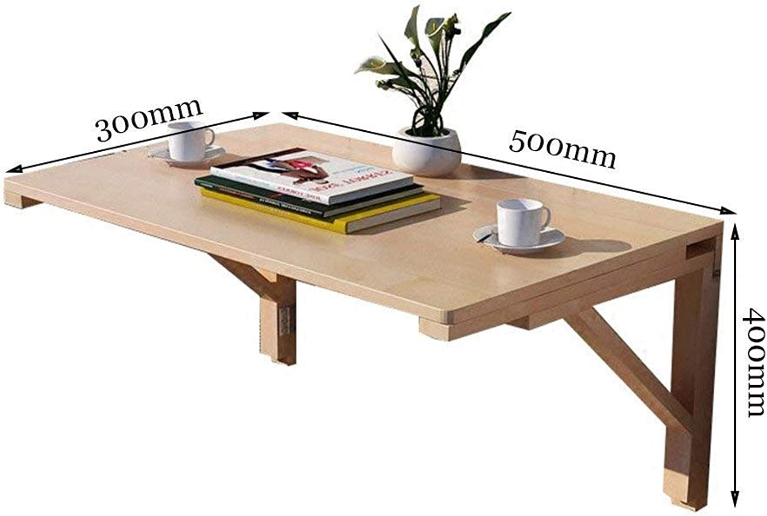 Chuan Han Practical Wooden Wall-Mounted Foldable Table Wall Table Dining Table Wall Computer Desk Adapts to Any Space Study Table Desk Wooden Bracket