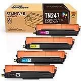 STAROVER Cartucho de Tóner Compatible Repuesto para Brother TN247 TN243 para HL-L3210CW HL-L3230CDW HL-L3270CDW MFC-L3710CW MFC-L3730CDN MFC-L3750CDW MFC-L3770CDW DCP-L3510CDW DCP-L3550CDW(4 Paquete)