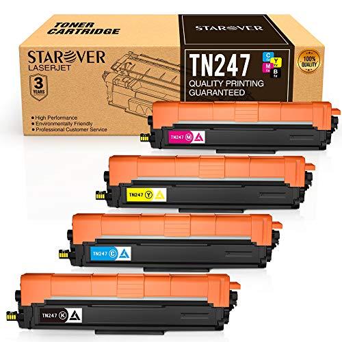 STAROVER Cartuccia di Toner Compatibile Ricambio per Brother TN247 TN243 per HL-L3210CW HL-L3230CDW HL-L3270CDW MFC-L3710CW MFC-L3730CDN MFC-L3750CDW MFC-L3770CDW DCP-L3510CDW DCP-L3550CDW(4 Pacco)