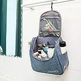 Kulturbeutel Waschtasche Unisex - Acdyion Aufhängen Kosmetiktasche Reise-Tasche für Herren und Frauen für Koffer & Handgepäck Urlaub Waschbeutel Toiletry Bag (Blau) - 3