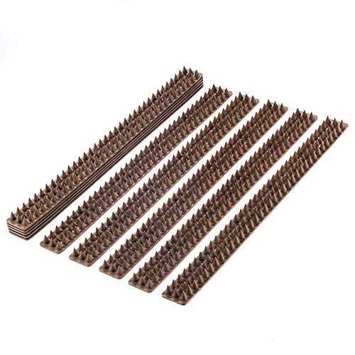 PestExpel Anti Climb Cat Bird Human Fence Wall Windowsill Gates Sheds Spikes 5 Meter Pack (Brown)