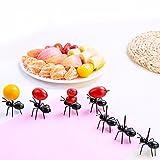 36Pcs Lovely Mini Plastic Ants Fruit Toothpick Dessert Forks, Vivid Animal Appetizer Forks, Home Decortion Snack Dessert Forks Party Picks Home Kitchen Gadgets